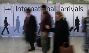 Arrivals at airport