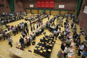 The national assembly election count at the Sport Wales national centre in Cardiff.