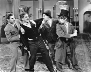 Zeppo, Groucho, Chico and Harpo Marx in Duck Soup, 1933