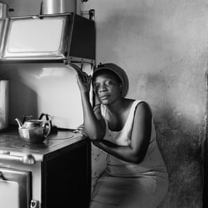 Patience Poni visiting her parents, Ruth and Jackson Poni, 1510A Emdeni South, Soweto, 1972.