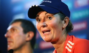 Charlotte Edwards appears next to the new head coach Mark Robinson after defeat in the World Twenty20. Robinson criticised the team's fitness and said they needed to be tougher.