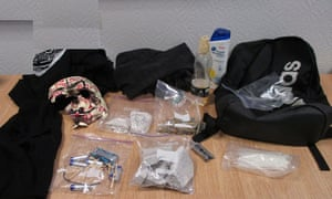 Items found in the rucksack belonging to one of the boys which prosecutors argued were instruments for building an explosive.