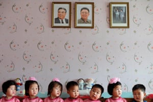 The Hands that Rock the Cradle. Nampo, North Korea