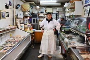 Tokyo, Japan: Kunio Hayakawa, fishmonger