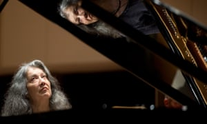Pianist Martha Argerich, who will perform with Barenboim and his West-Eastern Divan Orchestra