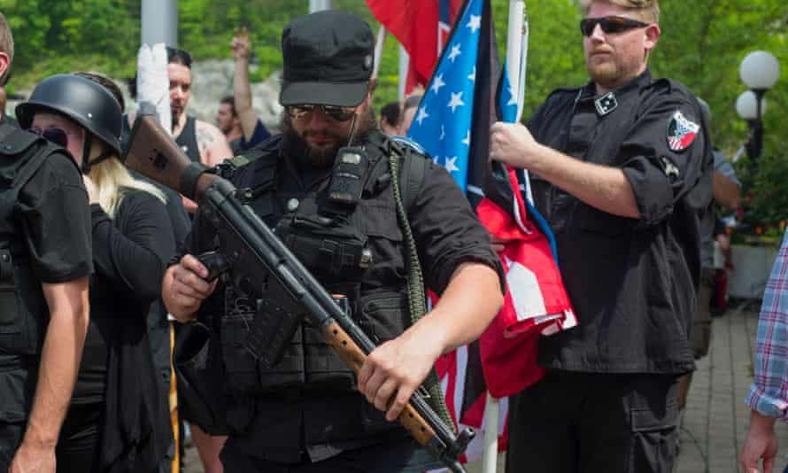 The demonstrations in downtown Pikeville, Kentucky on Saturday.