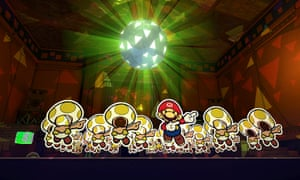 There's a tactile element to the design ... Paper Mario: The Origami King.