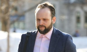 Joshua Boyle outside court in March. The delay was triggered by questions of whether the court should hear testimony about Coleman's sexual history.