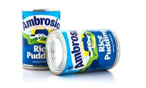 Two tins of Ambrosia rice pudding