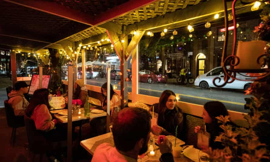 Outdoor eaters in New York. Will outdoor dining be here to stay?