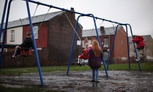 Children playing in a park in the Gorton area of Manchester