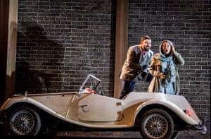Matteo Lippi (Duke of Mantua) and Vuvu Mpofu (Gilda) in Glyndebourne's first ever Rigoletto.