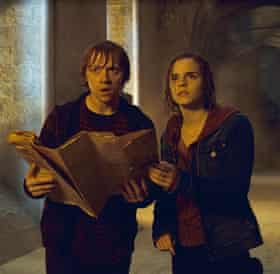 Rupert Grint and Emma Watson in Harry Potter.