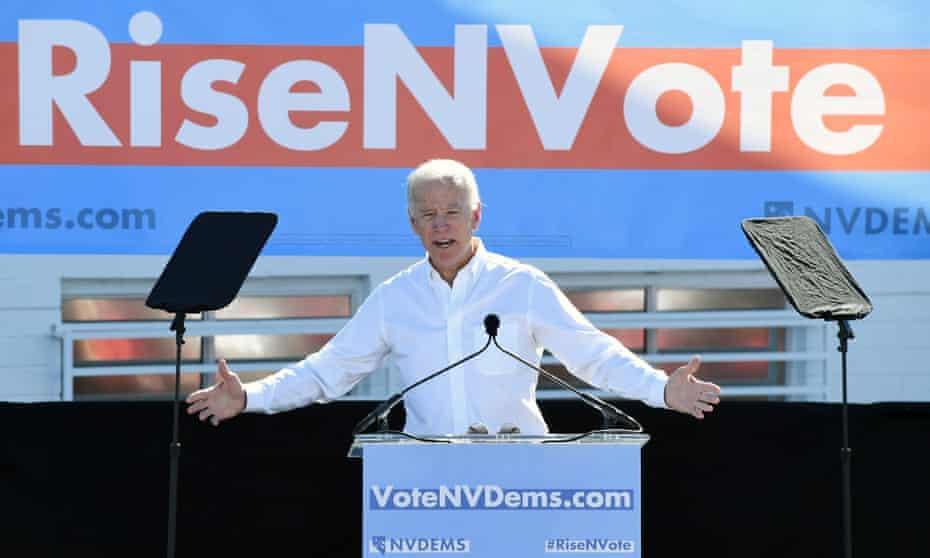 Joe Biden speaks in Las Vegas, Nevada on Saturday.