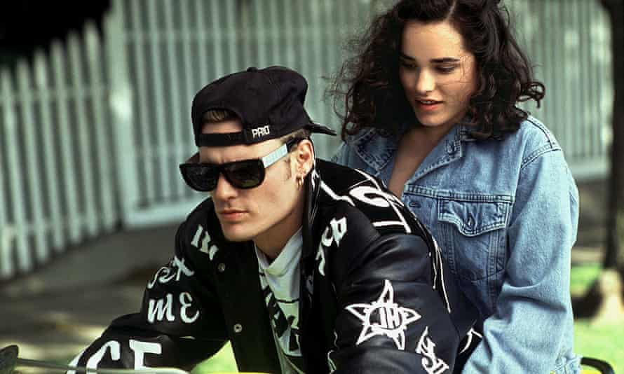 Vanilla Ice and Kristin Minter in the 1991 film Cool as Ice.