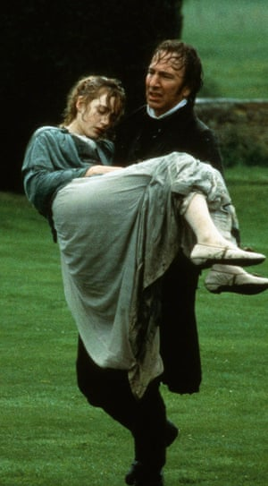 Glorious … Kate Winslet as Marianne and Alan Rickman as Colonel Brandon in the 1995 film of Sense and Sensibility.