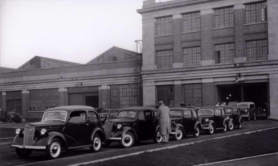 An undated photo of Ford Anglia production at Dagenham in London, UK