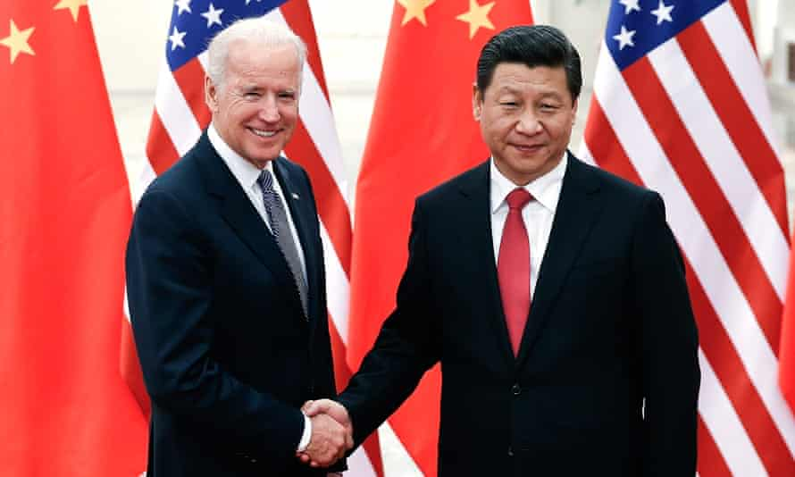 Joe Biden and Xi Jinping