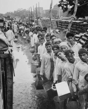 Muslim refugees at a camp outside Delhi in September 1947.