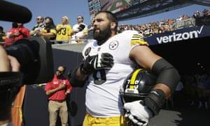 new style 29bce 528e4 Steelers army veteran Villanueva on protests: 'VFWs won't ...