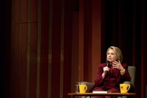 Hillary Clinton speaks during a lecture on foreign policy in Ann Arbor, Mich.