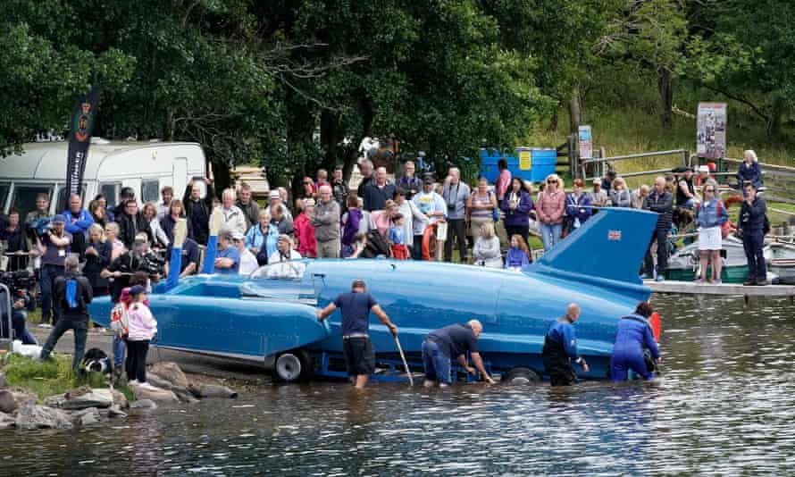 The first attempt at re-floating Donald Campbell's iconic Bluebird took place at Loch Fad last week.