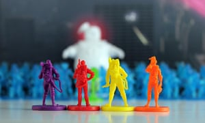 Ghostbusters: The Board Game game pieces