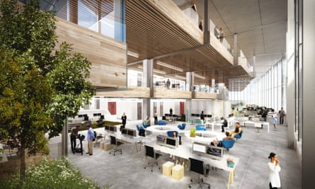 An artist's impression of the inside of Google's new offices.