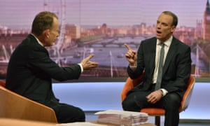 Dominic Raab on the Andrew Marr Show