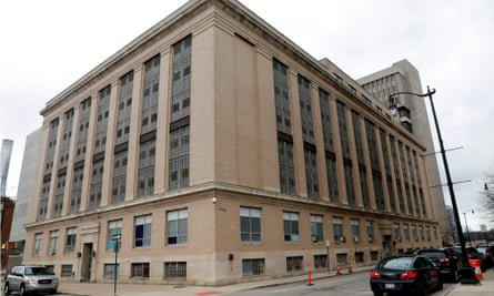 The Wayne county jail in downtown Detroit. Public health experts have for months warned that US jails and prisons face catastrophe.