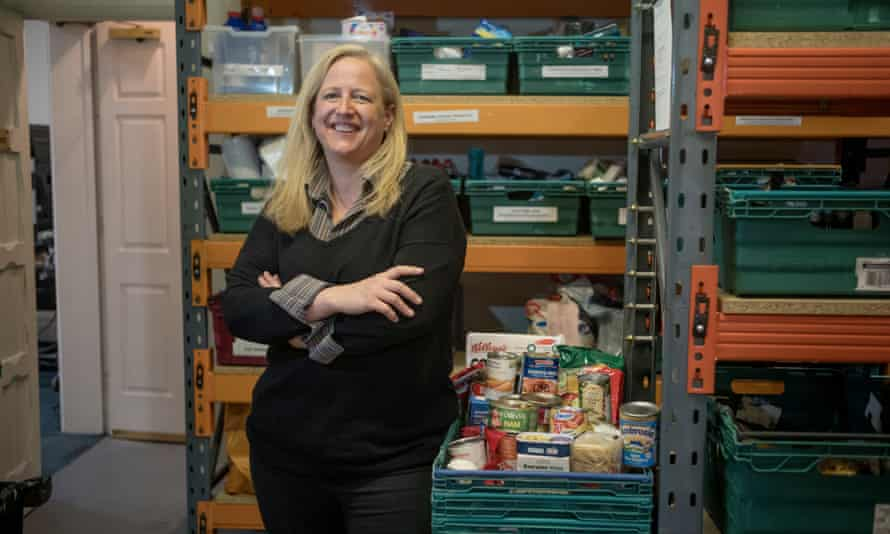 Emma Revie, the new chief executive of the Trussell Trust, at Westminster food bank in central London.