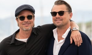 Brad Pitt and Leonardo DiCaprio, in Cannes with Quentin Tarantino's Once Upon a Time … in Hollywood.