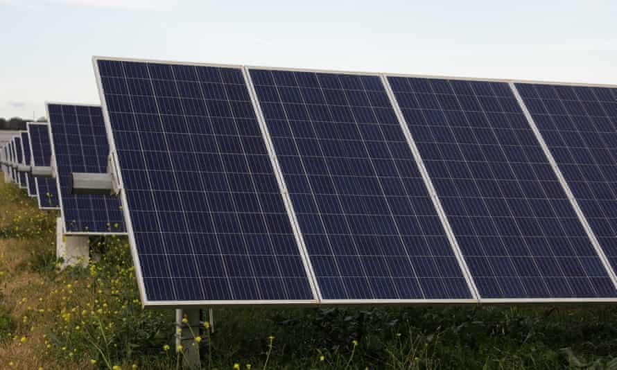 File photo of South Keswick Solar Farm near Dubbo, Australia