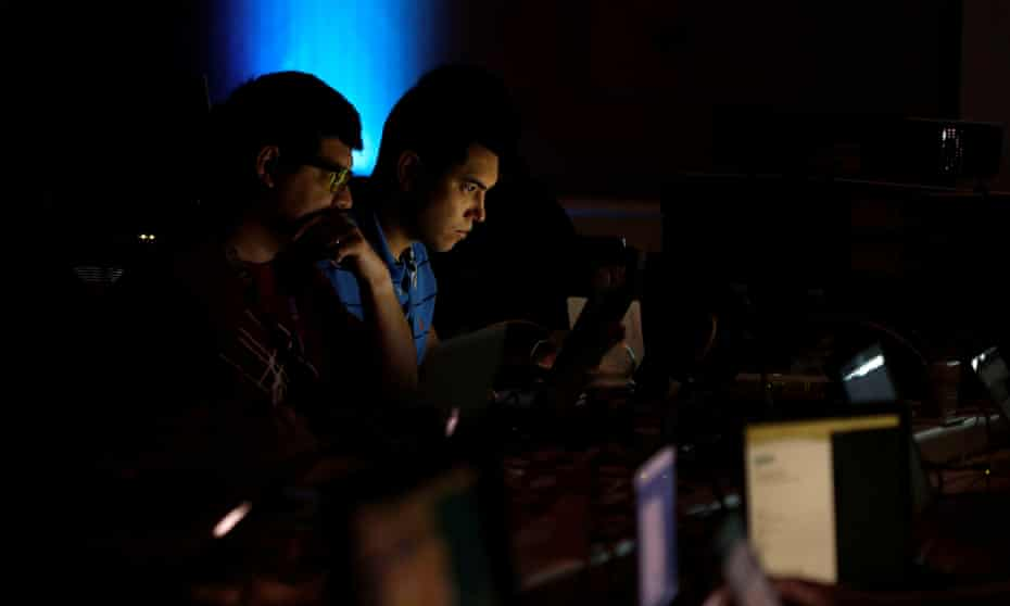 Attendees at the Def Con 2017 hacker convention in Las Vegas in July.