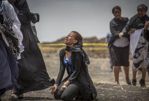 Bishoftu, Ethiopia Relatives of crash victims