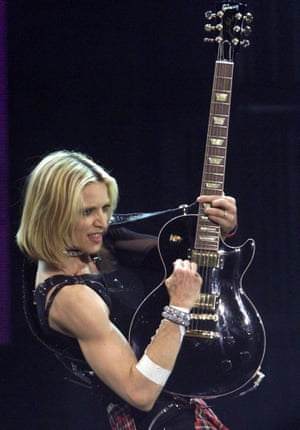 2001: Madonna performs during her Drowned World tour