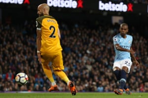 Fernandinho scores City's third.