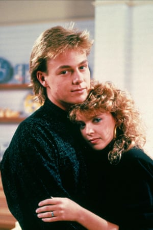 Jason Donovan and Kylie Minogue in Neighbours, 1985.