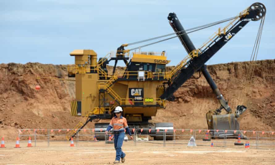 Shovel operator at Queensland mine