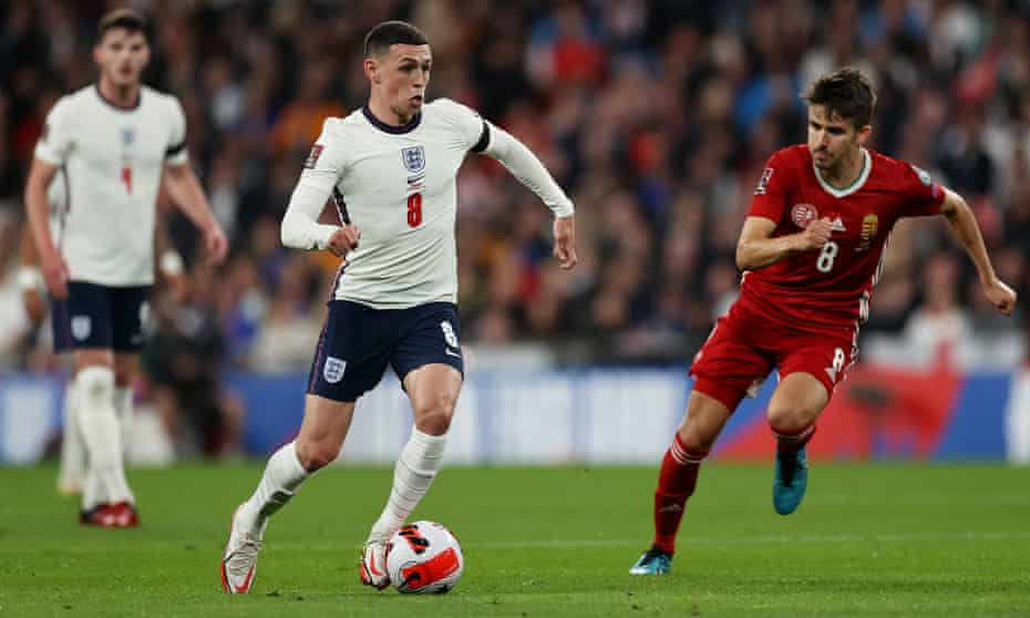 Phil Foden was part of an attacking midfield and forward line Gareth Southgate tried out against Hungary at Wembley.
