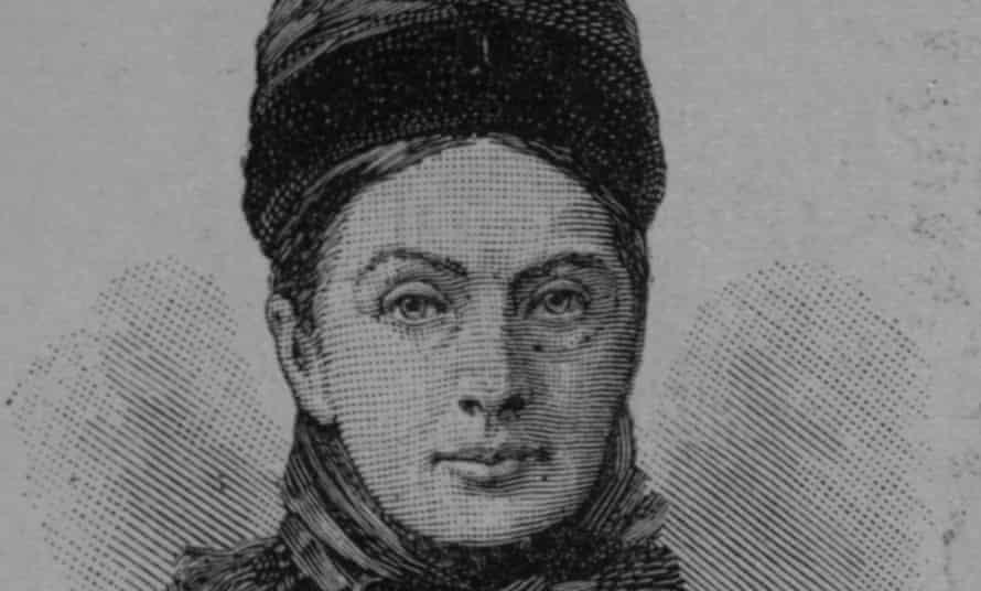 Sketch of explorer and travel writer Isabella Bird.