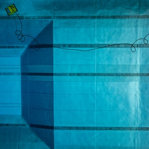 One of photographer Stephan Zirwes's aerial shots of German public swimming pools.