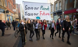 A climate demonstration in Oxford: 'Strike in your towns and cities.'