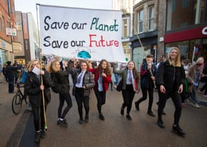 Students take part in the Youth Strike 4 Climate march in Oxford