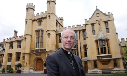 Justin Welby outside Lambeth Palace in London after his appointment as archbishop of Canterbury in 2012.
