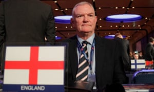 The Football Association chairman, Greg Clarke, at Uefa's congress in Rome in February 2019.