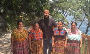 Allan Hennessy, with some local women, in Guatemala.