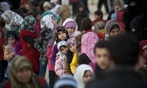 A refugee camp near the Bab al-Salam crossing on Turkish-Syrian border.