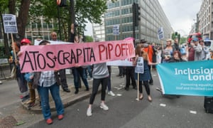 Protests against the the new personal independence payments (PIP) in 2016