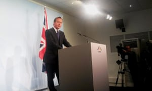 David Cameron speaking at his G7 press conference.